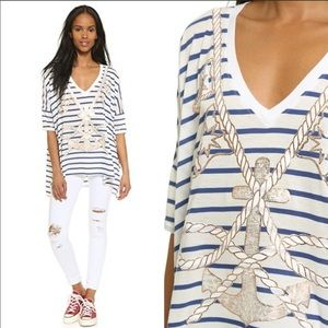 NWT Wildfox Anchors Away T-shirt, size S